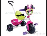 Розовый трехколесный велосипед с ручкой для девочек купить в интернет магазине