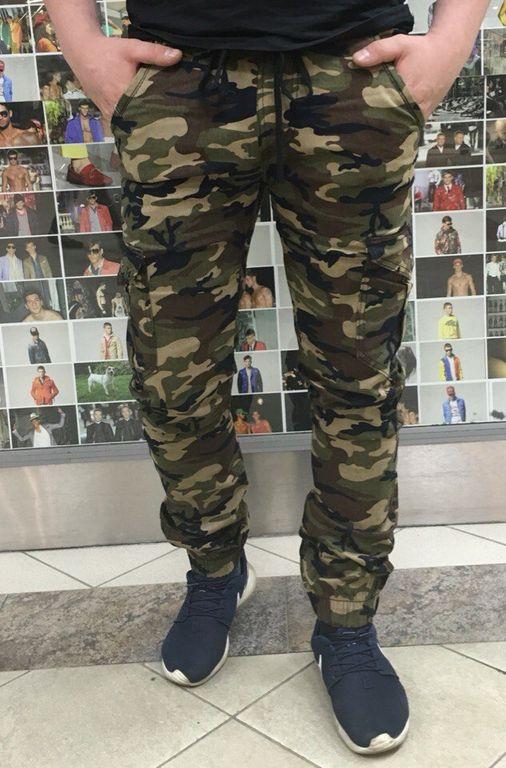 3840042a Купить мужские брюки джоггеры камуфляжные зеленый
