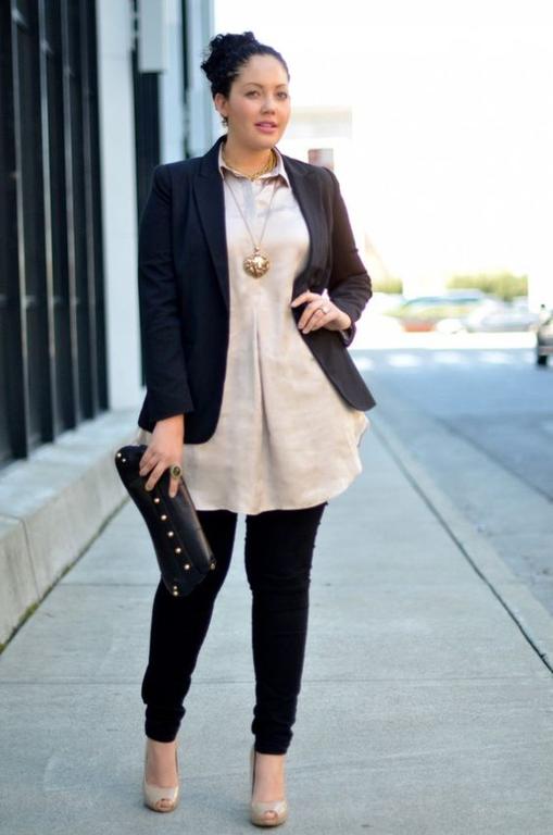 Как модно одеться полной женщине