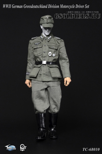 Мотоциклист - коллекционная фигурка 1/6 WWII German Grossdeutschland Division Motorcycle Driver Set (TC-6810) - Toys city