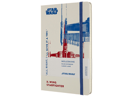 Блокнот Moleskine Star Wars X-Wing, Large, в линию, белый