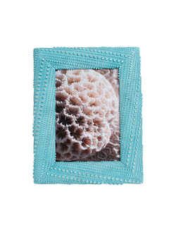 Фоторамка PHOTO FRAME URSINA BLUE 25X20CM POLYRESIN арт. 30852