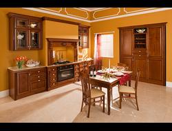 Кухни на заказ по размерам с деревянными фасадами Луизиана