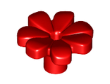 Friends Accessories Flower with 7 Thick Petals and Pin, Red (32606 / 6182260)