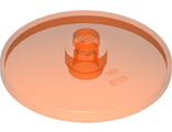 Dish 4 x 4 Inverted Radar with Open Stud, Trans-Neon Orange (35394 / 6252268)