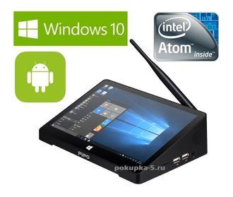 Pipo X9. 2 Гб / 32 Гб. Windows 10 + Android 4.4. Мини ПК. Экран 8,9 дюймов. Всё в одном!