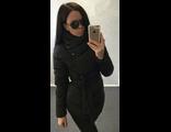 Женская весенняя куртка чёрная 002-03