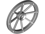 Wheel Wagon Large 33mm D., Hole Notched for Wheels Holder Pin, Light Bluish Gray (4489b / 6218117)