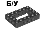 ! Б/У - Technic, Brick 4 x 6 Open Center, Black (40344 / 4144025) - Б/У