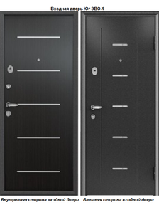 Металлическая дверь Юг Эво-1 Венге