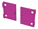 Window 1 x 2 x 3 Shutter with Hinges and Handle, Dark Pink (60800a / 6109902)