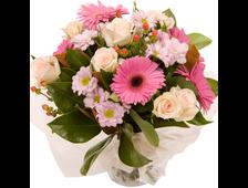 Букет розы с хризантемой в дуэте