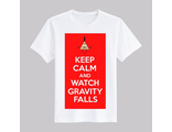 "Футболка ""Keep calm and watch Gravity Falls"" №2"