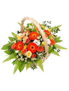 Корзина «Оранжевый сюрприз»
