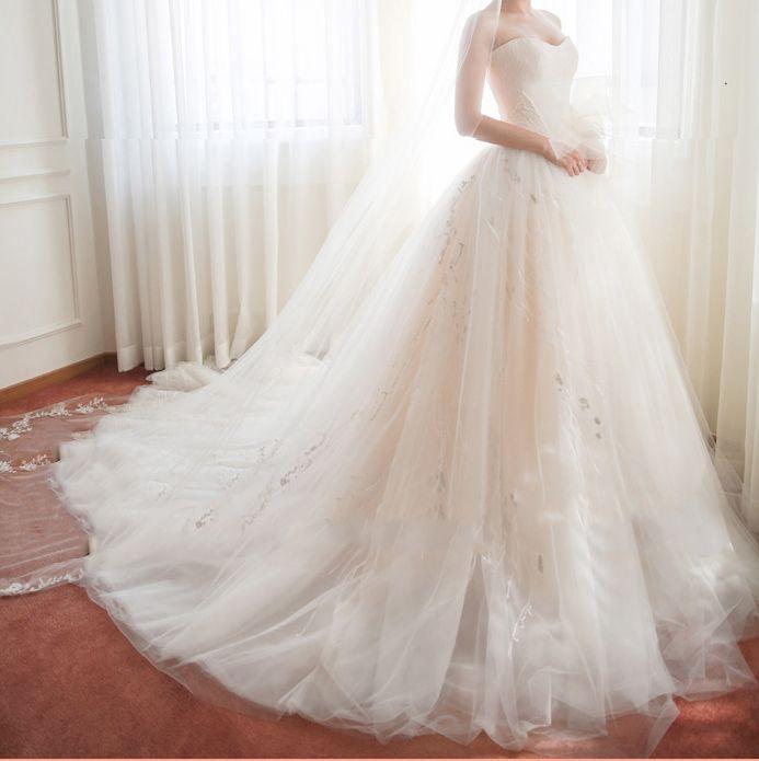 fe8e1c58916870b Белое пышное свадебное платье