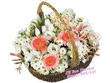 Корзина Хризантем с Тюльпанами и Герберами