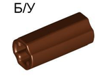 ! Б/У - Technic, Axle Connector 2L Smooth with x Hole + Orientation, Reddish Brown (6538c / 4531751) - Б/У