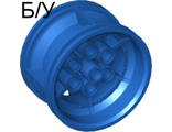 ! Б/У - Wheel 43.2mm D. x 26mm Technic Racing Small, 6 Pin Holes, Blue (56908 / 6006113) - Б/У