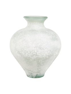 ваза VASE ETURI WHITE D30X34CM GLASSарт.32180