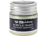 Acrylic Paint-Opal Magic Green-Gold 1.7oz
