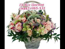 Корзина цветов Королевский подарок