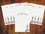 """Бумага для писем 10 листов """"Винтажный маяк"""""""