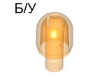! Б/У - Light Cover with Internal Bar / Bionicle Barraki Eye, Trans-Orange (58176 / 4524365) - Б/У