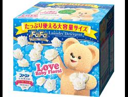 """Концентрированный cтиральный порошок с кондиционером для детского белья """"FaFa Цветочный"""", 1 кг, пр-во: Япония"""