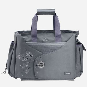 Универсальная сумка для мамы на коляску Beaba Sydney Nursery Bag Grey