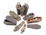 COFFINS AND SARCOPHAGUS (painted)