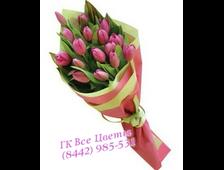 Букет из 17 Тюльпанов Яркая Весна