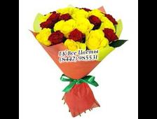 25 роз букет Янтарь