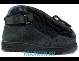 Кроссовки Nike Air Force Flyknit черные