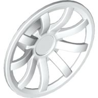 Wheel Cover 9 Spoke - 24mm D. - for Wheels 55982 and 56145, White (62701 / 6189184)