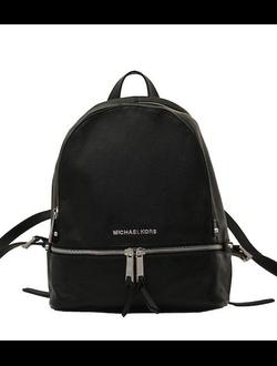 (Артикул: 3187) Сумка рюкзак, небольшая, натуральная кожа, черная, модная