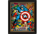 3D Постер Marvel Retro: Captain America