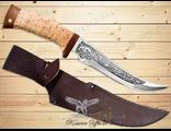 Нож Охотничий НС-47 (Рукоять: береста, Сталь: ЭИ-107, Тыльник: текстолит)