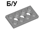 ! Б/У - Technic, Plate 2 x 4 with 3 Holes, Light Bluish Gray (3709b / 4211444) - Б/У