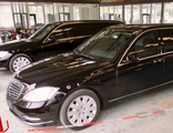 The used elongated and armored limousine based on a Mercedes-Benz S600 V221 +1350mm and +100mm raised roof in B6, CEN1999, 2008 YP