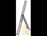 Лестница трехсекционная сварная 3х15 (9,78)