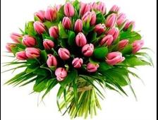 101 розовый Тюльпан в букете
