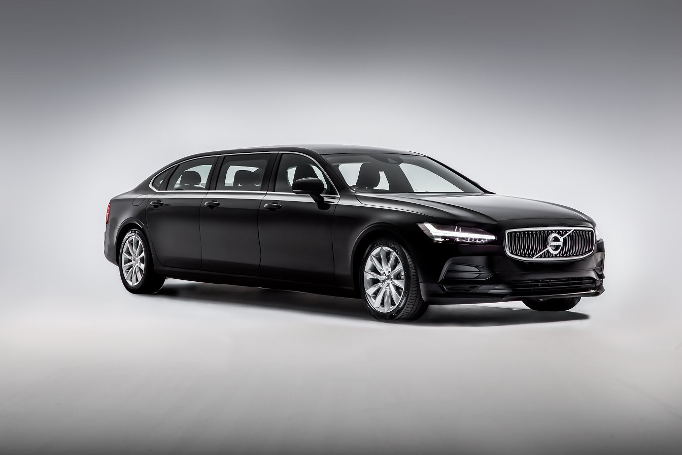 New stretched 6-doors limousine based on Volvo S90 T6 AWD Drive-E 320 Momentum +1140mm, 2020-2021 YP