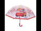 Детский зонт прозрачный для мальчика Тачки