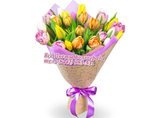 Букет из 25 Тюльпанов Бон-Пари
