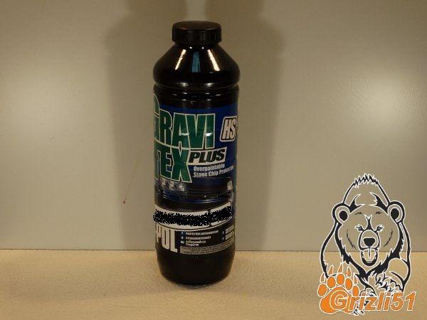 U-POL GraviTex PLUS чёрный 1л. (бутылка)