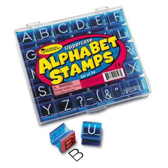 Uppercase Alphabet Stamps Set