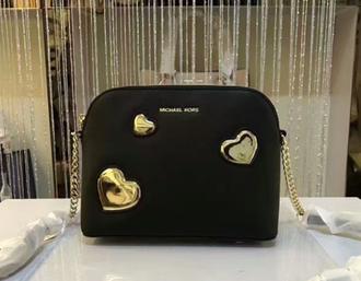 7f708dff4259 Женская сумка с сердечками Michael Kors Cindy Crossbody чёрного ...