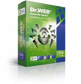 ПО DR.Web Security Space 3 ПК/1 год (BHW-B-12M-3-A3)