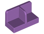 Panel 1 x 2 x 1 with Rounded Corners and Center Divider, Medium Lavender (93095 / 6177197)