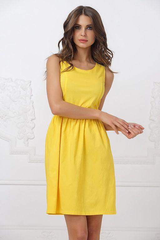 Летнее желтое платье 2017